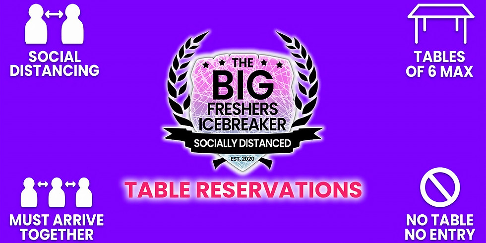 The Big Freshers Icebreaker: Bournemouth - Table Reservations - THE FINALE