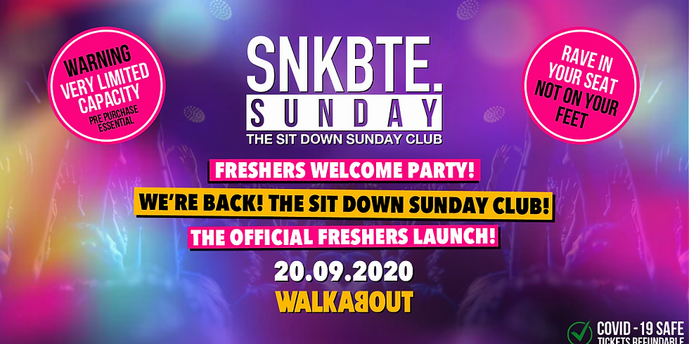 BOURNEMOUTH FRESHERS WELCOME PARTY 2020!
