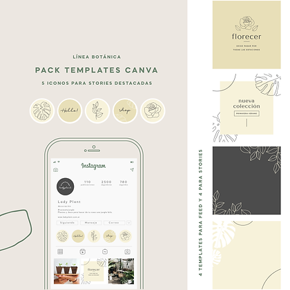 Pack de Templates para Instagram - Línea Botánica