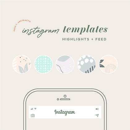 Templates Instagram Abstracta Pasteles