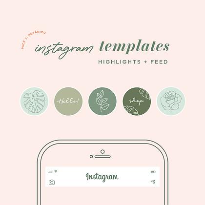 "Templates Instagram Botánica ""Selva"""