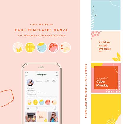 Pack de Templates para Instagram - Línea Abstracta