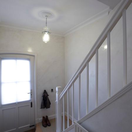 Treppenhaus in Spachteltechnik