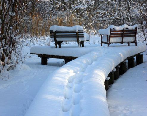 Grund und Garten - Banke im Schnee-kl.jp