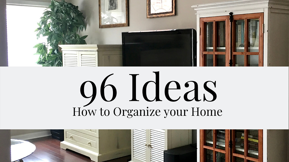 96 Ideas How to Organize your Home
