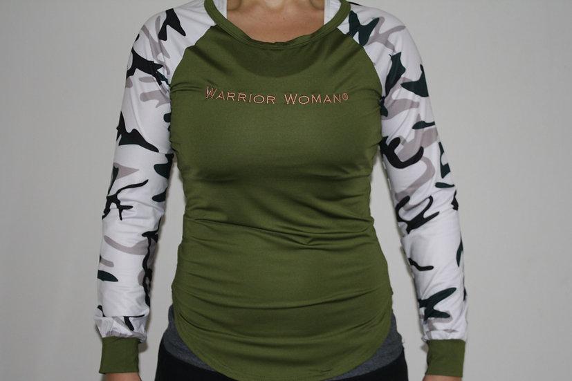 Warrior Woman® Long Sleeved Camo Tee