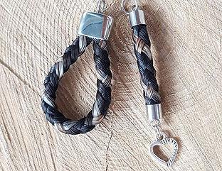 Schlüsselanhänger Tropfen und Stäbchen,