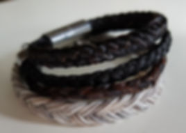Schmuck aus Pferdehaar Armbänder
