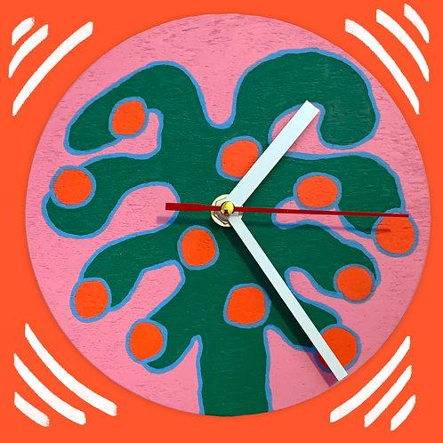 """orange tree"" clock"