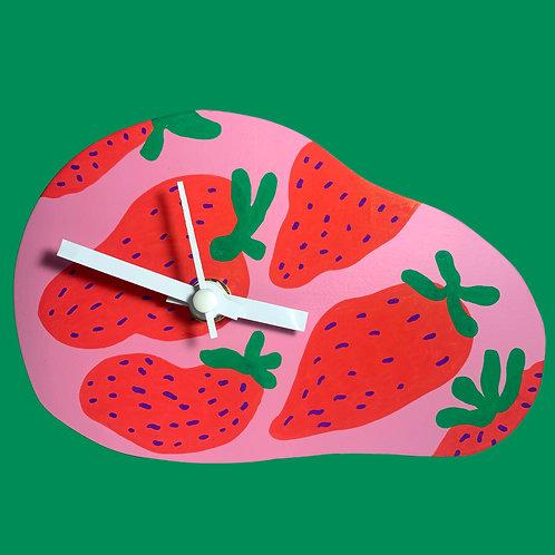 """strawberry"" clock"