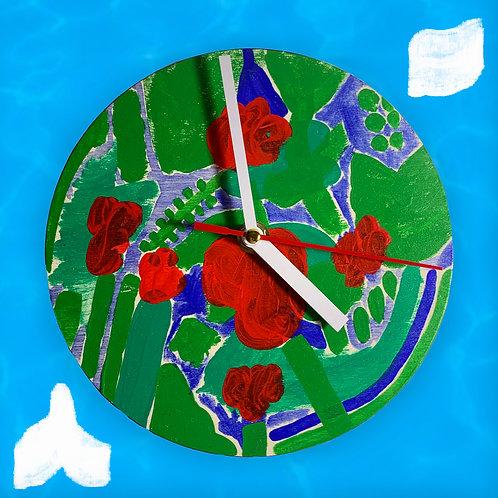 """floral"" clock"