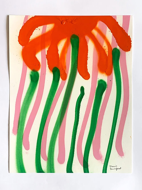 floral sketch 9