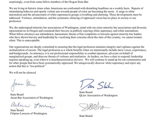 Thank you for support from these Washington Minority Bar Associations