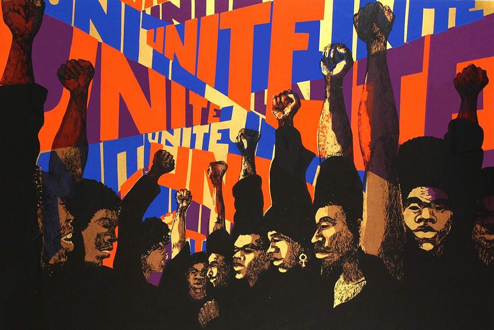 Unite, 1969-71, tranh bởi Barbara Jones-Hogu - Blitz Creatives