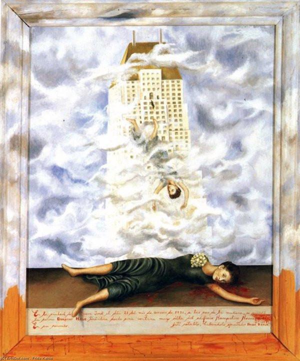 FRIDA KAHLO (1907-1954) 'The Suicide of Dorothy Hale', 1939 (tranh sơn dầu trên giấy bồi) - Blitz Creatives