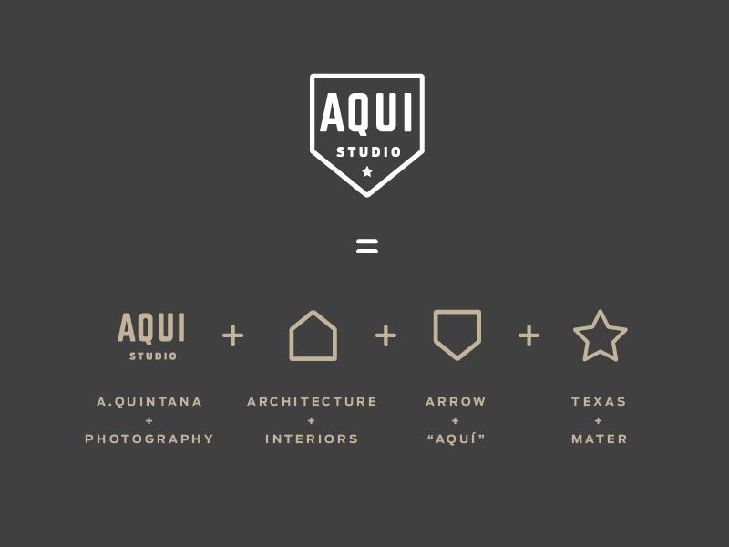 Logo Aqui Studio thiết kế bởi Daniela Madriz - Blitz Creatives