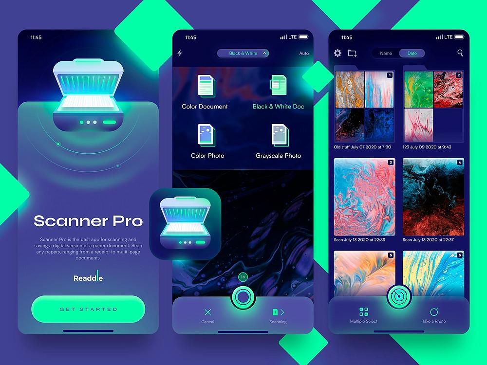 Scanner Pro design concept by Sergey Semernyov - Blitz Creatives
