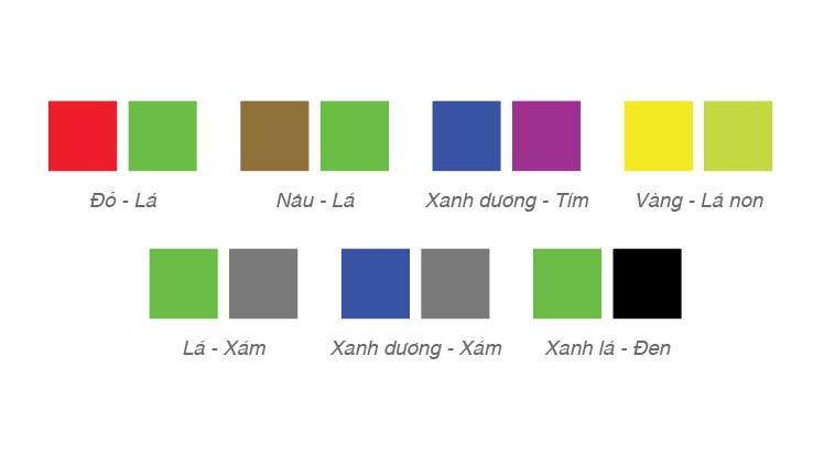 Các cặp màu gây khó khăn cho người dùng mù màu - Blitz Creatives