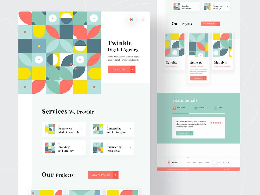 Twinkle : Digital Agency Landing Page - Blitz Creatives