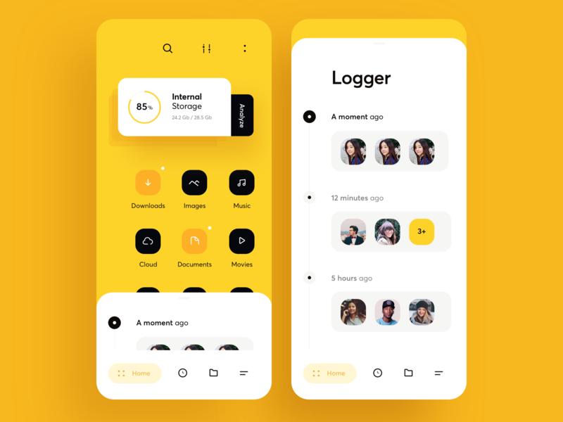 File Explorer App UI by Cuberto - Blitz Creatives