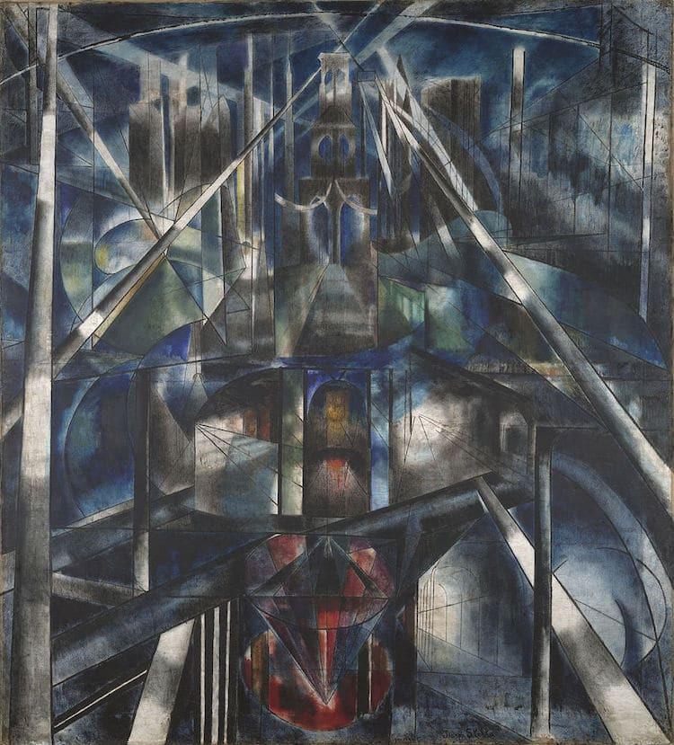 """Tác phẩm """"Brooklyn Bridge"""", Joseph Stella. 1919-1920 - Blitz Creatives"""
