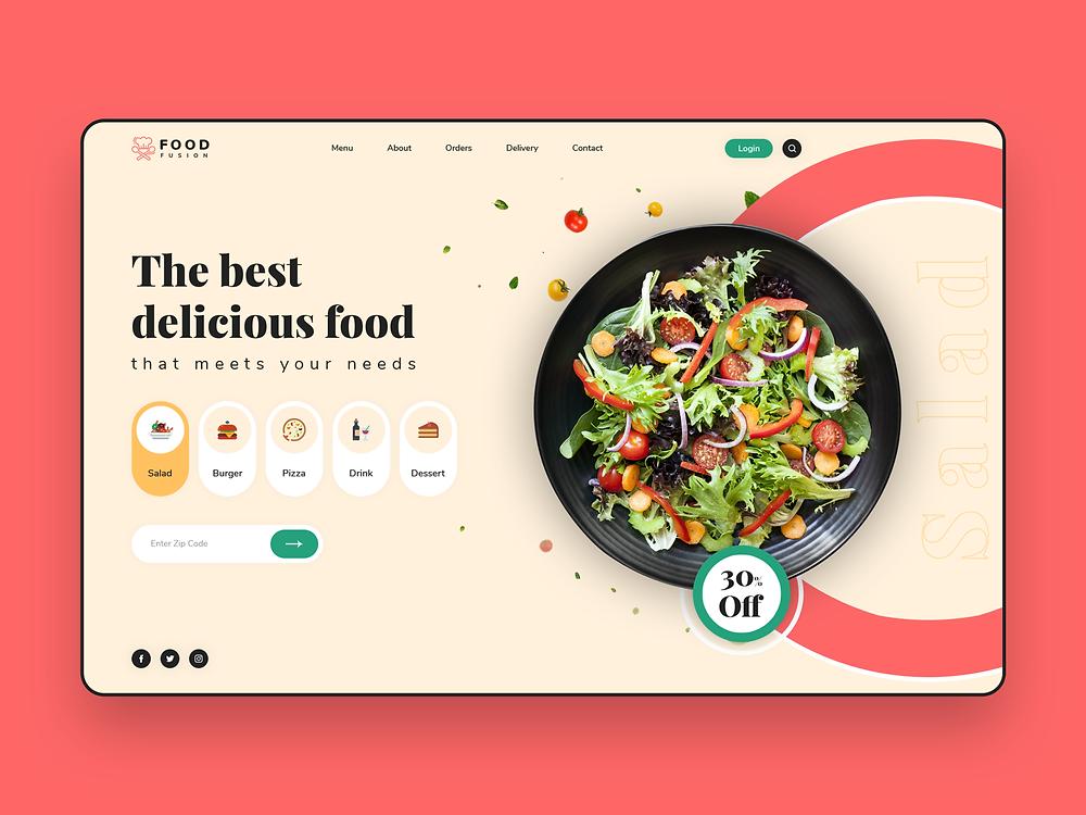Food Ordering Website - Blitz Creatives