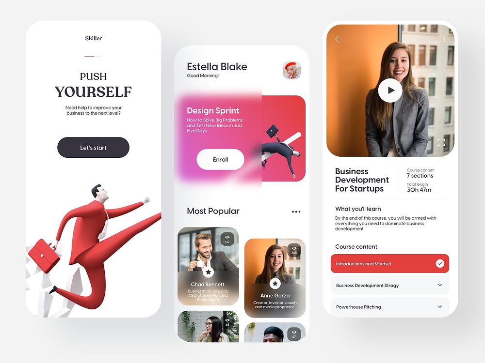 Skill Development App by Ariunbold Ankhaa - Blitz Creatives