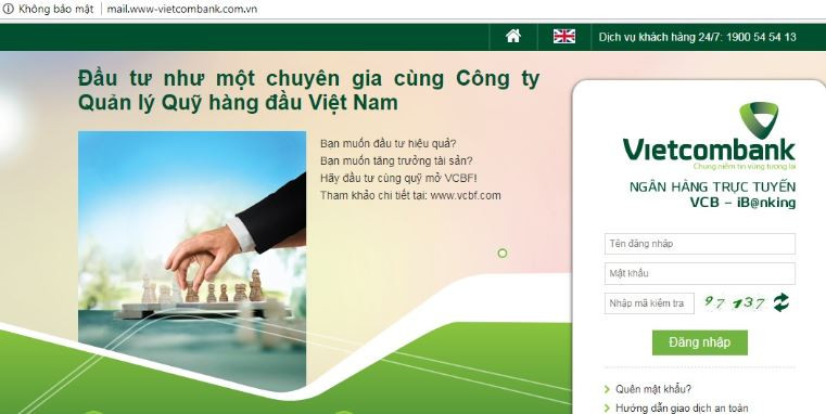 Giả mạo website Vietcombank - Blitz Creatives