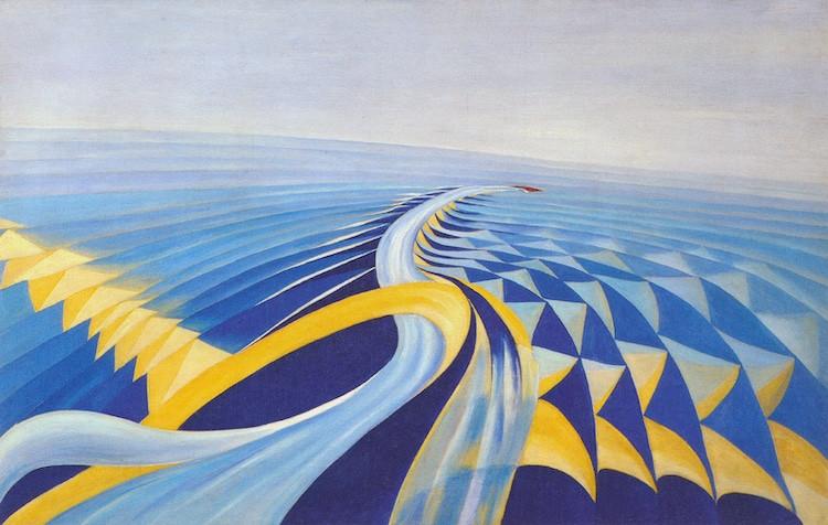 "Tác phẩm ""Speeding Motorboat"", Benedetta Cappa. 1923 - Blitz Creatives"