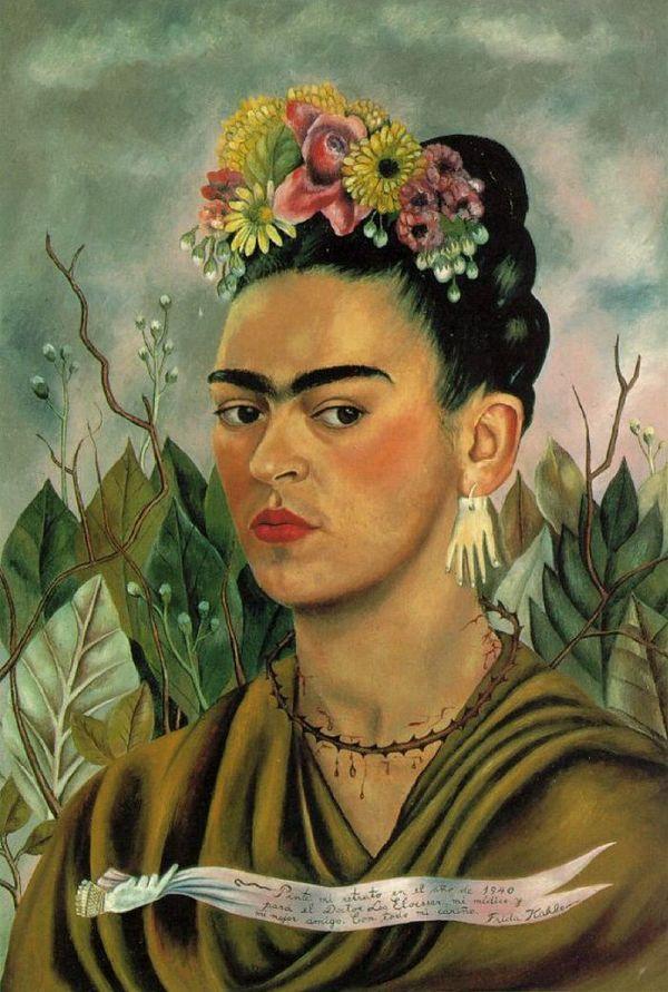 FRIDA KAHLO (1907-1954) 'Self Portrait', 1940 (tranh sơn dầu trên giấy bồi) - Blitz Creatives