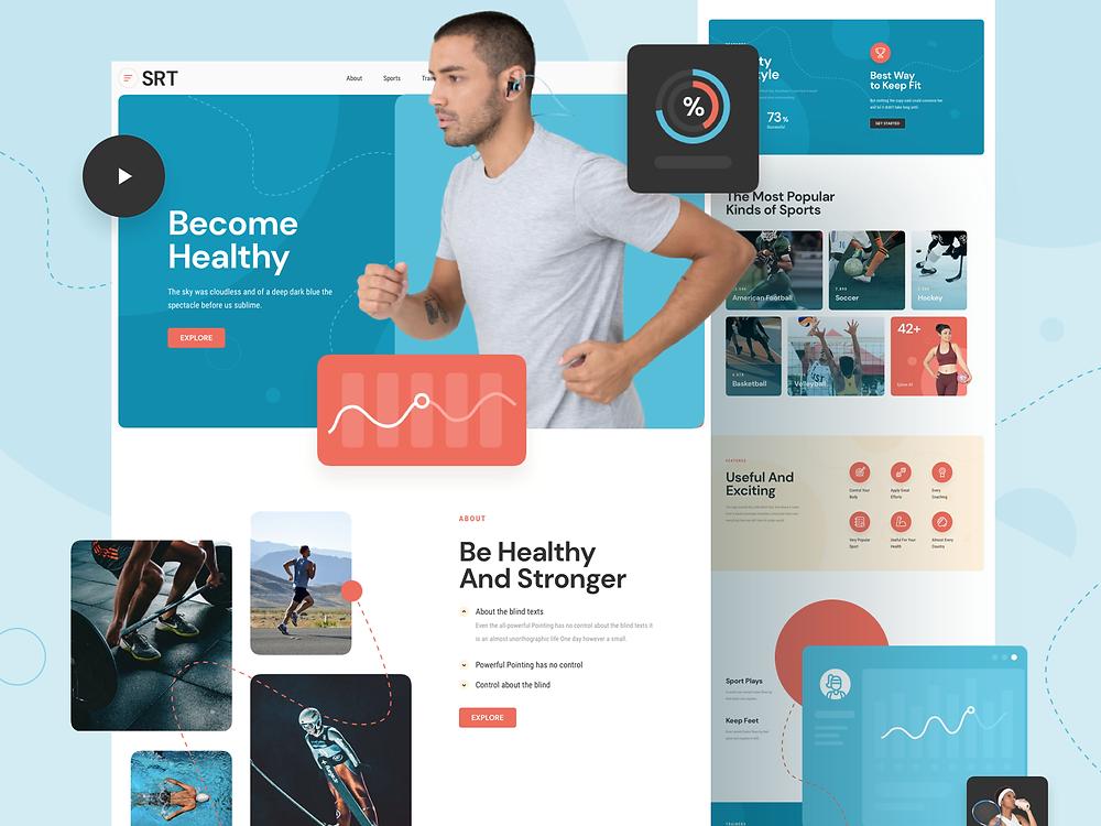 Sport Responsive Landing Page - Blitz Creatives