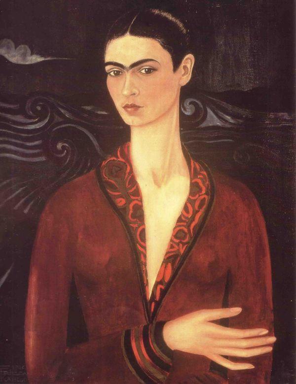 FRIDA KAHLO (1907-1954) 'Self Portrait in a Velvet Dress', 1926 (tranh sơn dầu trên chất liệu canvas) - Blitz Creatives