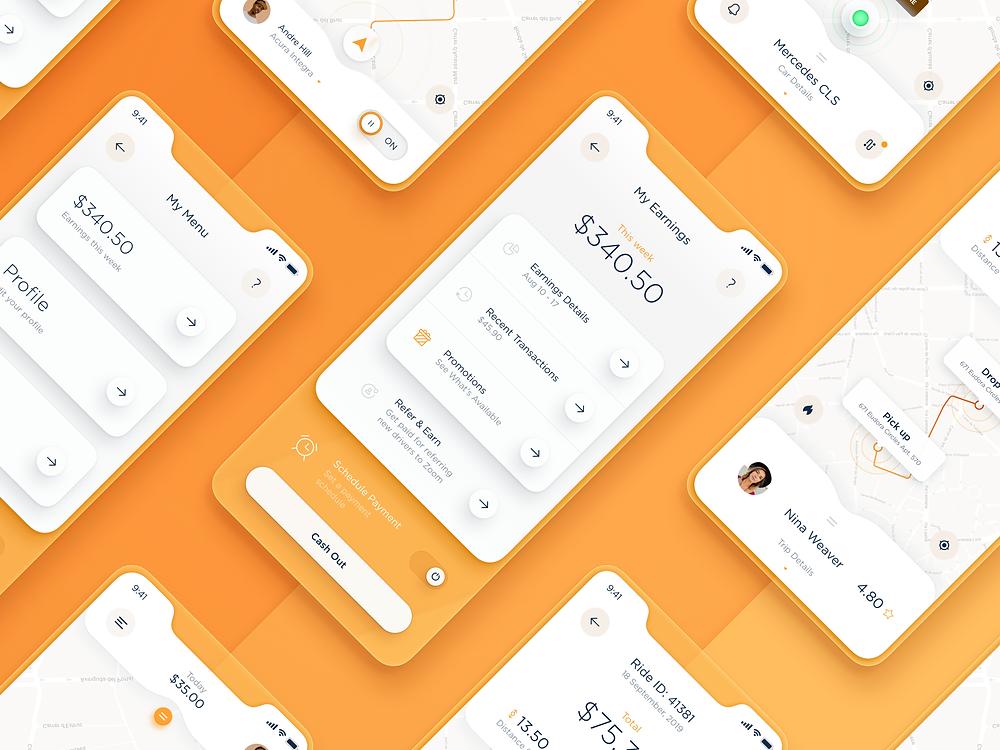 Taxi Driver App UI — SET 1 by Stan - Blitz Creatives