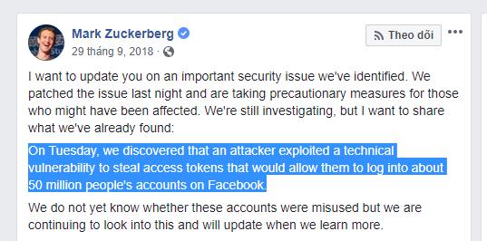 Vụ hack lớn các tài khoản Facebook - Blitz Creatives