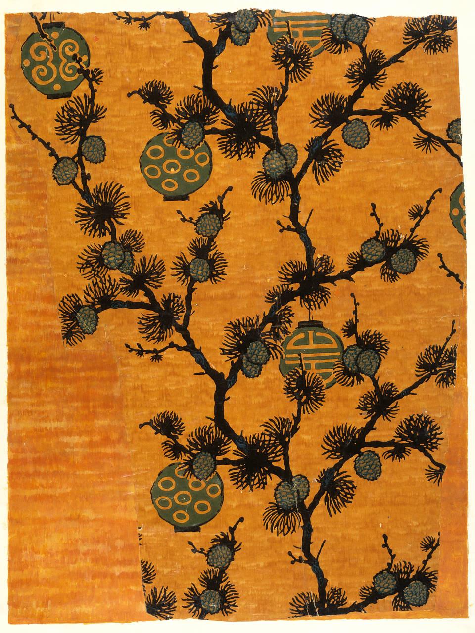 Một phần của tấm giấy dán tường theo 'phong cách phương Đông' - Blitz Creatives
