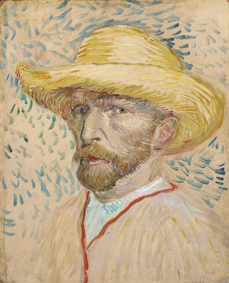 """""""Chân dung tự họa với chiếc nón rơm,"""" 1887 - Blitz Creatives"""