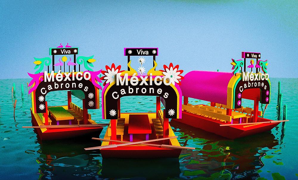 Thuyền trajineras trên các con kênh tại thành phố văn hoá Xochimilco - Blitz Creatives