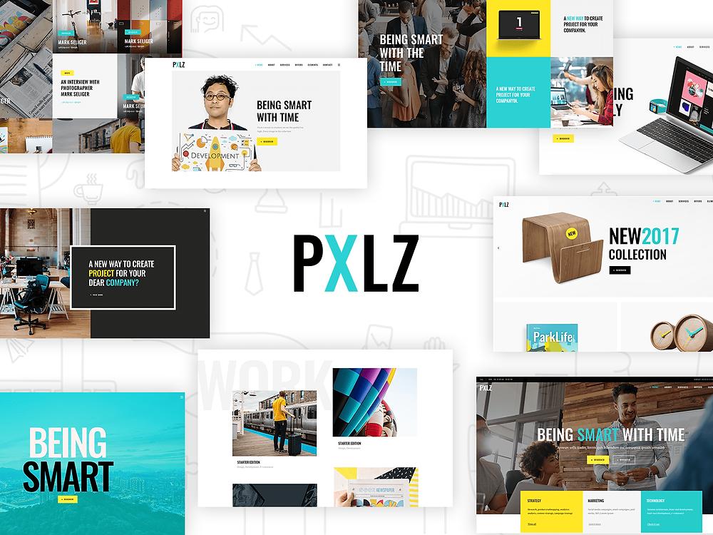 Pxlz - Creative Design Agency Theme - Blitz Creatives