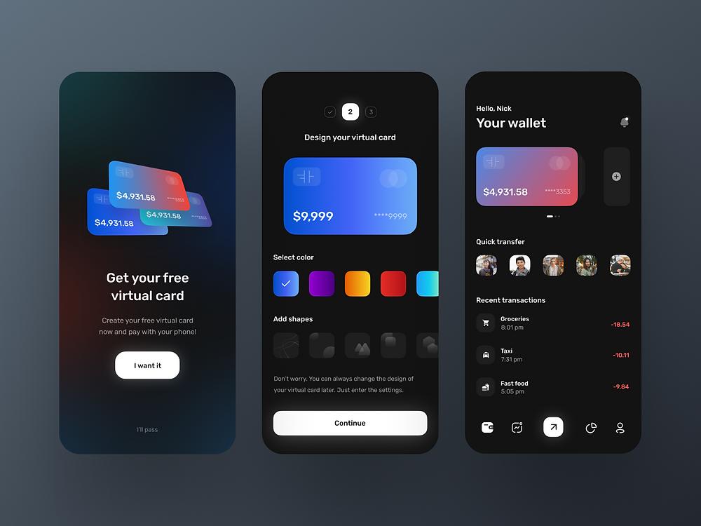 Mobile Banking App UI by Michael Filipiuk - Blitz Creatives