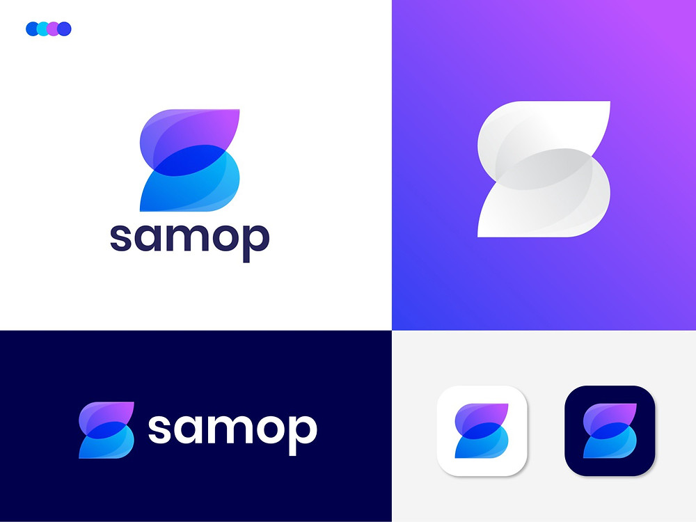 modem S letter logo design for samop by Eashin Arafath - Blitz Creatives
