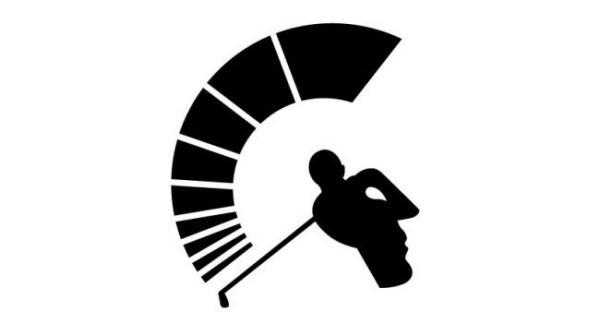 Golf thủ vung gậy một cách mạnh mẽ, hoặc một người lính Sparta trong chiếc mũ lông - Blitz Creatives