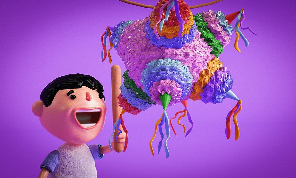 Hoạt động đập vỡ hộp giấy Piñata - Blitz Creatives