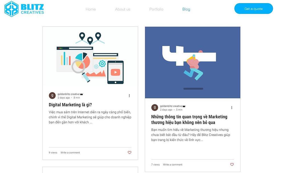 Website là phương thức Marketing Online không thể thiếu nếu doanh nghiệp muốn phát triển lâu dài - Blitz Creatives