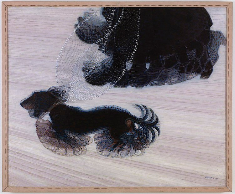 """Tác phẩm """"Dynamism of a Dog on a Leash"""", Giacomo Balla. 1912 - Blitz Creatives"""