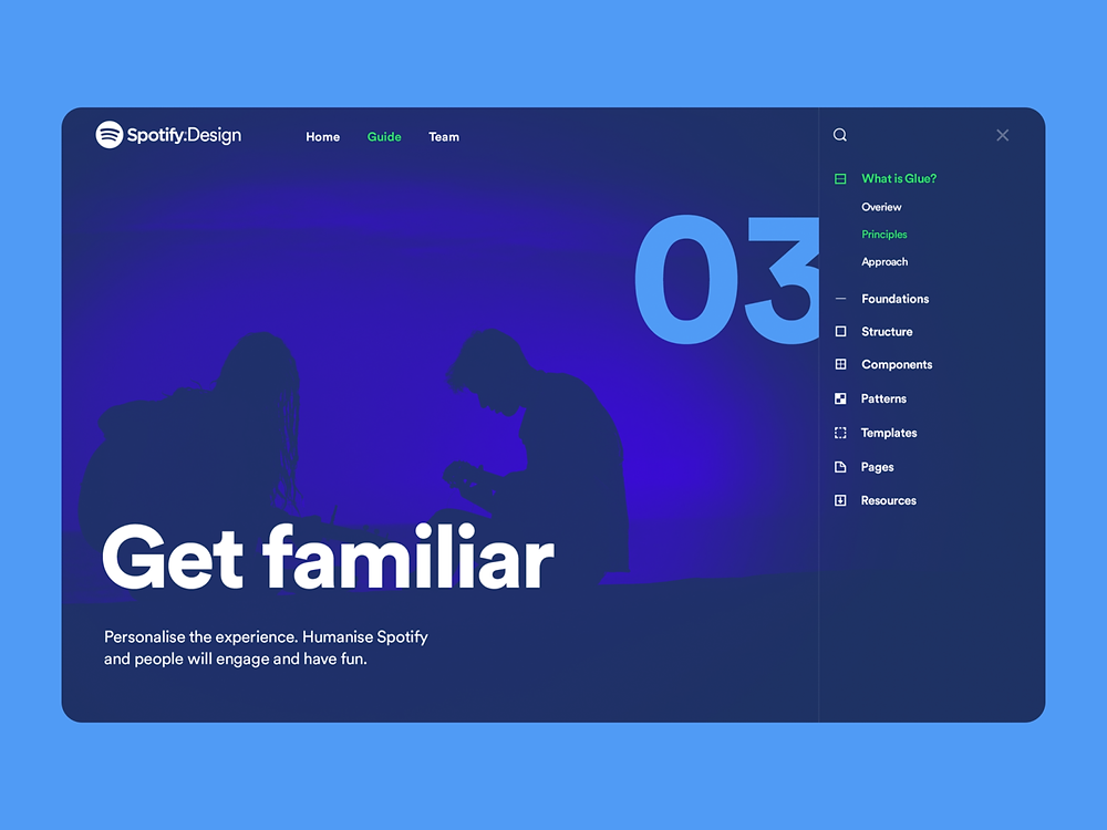 Spotify Design Team Website - Blitz Creatives