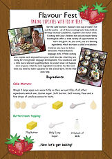 Activity Sheet - Baking Cupcakes with Fl
