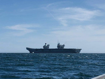 HMS Queen Elizabeth at Armed Forces Day
