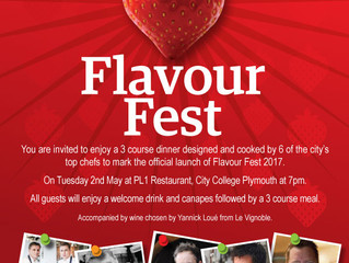 Be wined and dined by six of the city's top chefs at the official launch of Flavour Fest 2017!