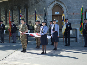 Flag raising ceremony to mark start of Armed Forces Week in Plymouth