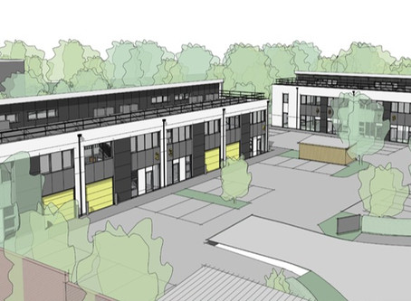 It's green for go on business park building plot